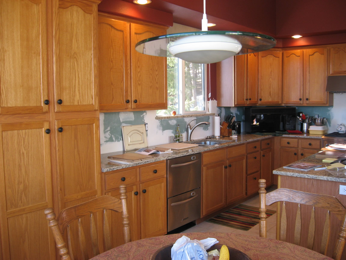 Black Kitchen Islands With Crackle Finish