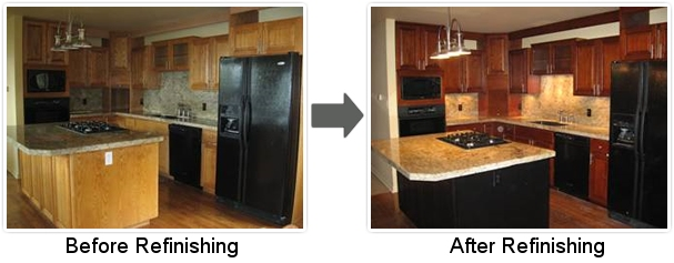 Upscale Wood Finishing Kitchen Cabinet Refinishing Denver CO